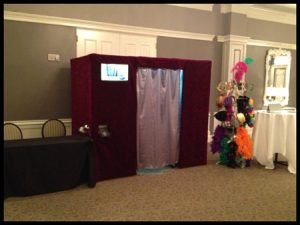 Here's what our fully enclosed photo booth looks like!